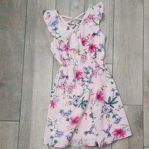 Girl's floral garden dress